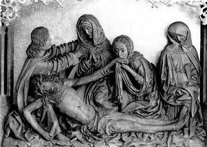 Die Falkensteiner Beweinung, Karfreitagsbild, um 1520, Bildhauer ist unbekannt, wahrscheinlich Conrad Rötin