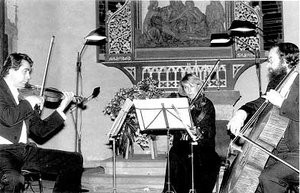 Kammerkonzert vor dem spätgotischen Flügelaltar. 1981