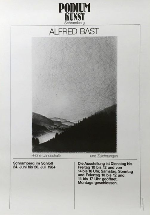 Plakat Ausstellung Alfred Bast