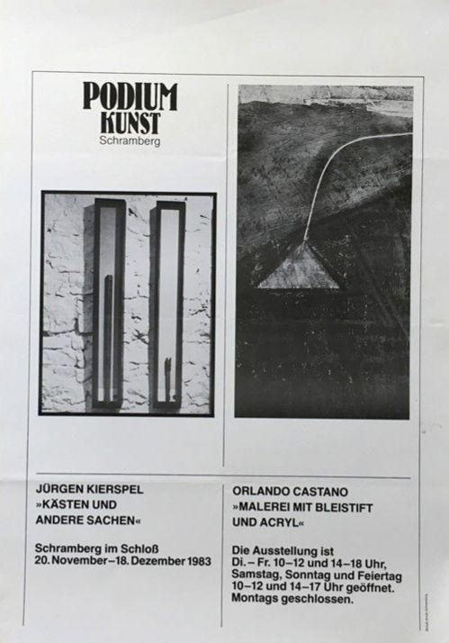 Plakat Ausstellung Jürgen Kirspel
