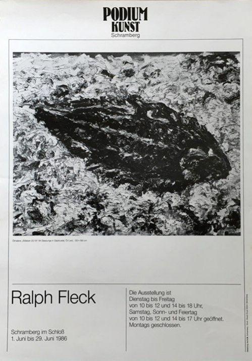 Plakat Ausstellung Ralph Fleck