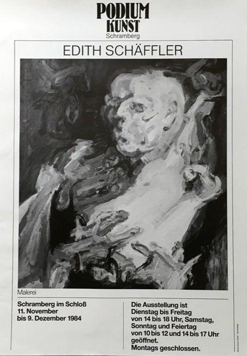 Plakat Ausstellung Edith Schäffler