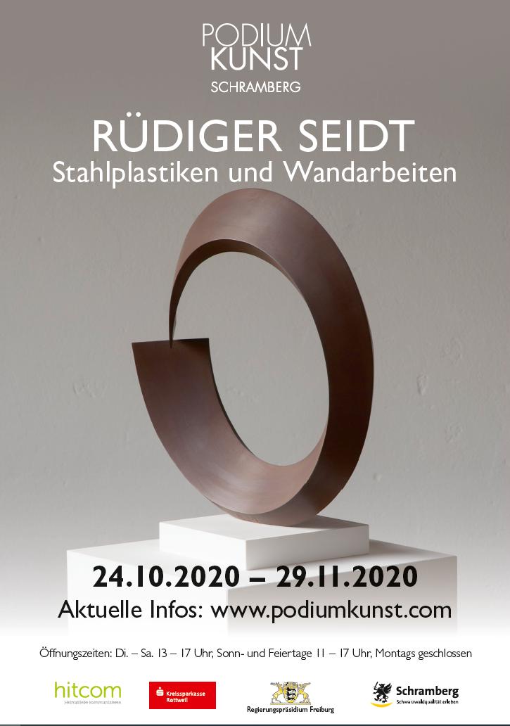 Plakat Ausstellung Rüdiger Seidt