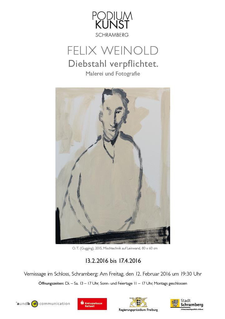 Plakat Ausstellung Felix Weinold