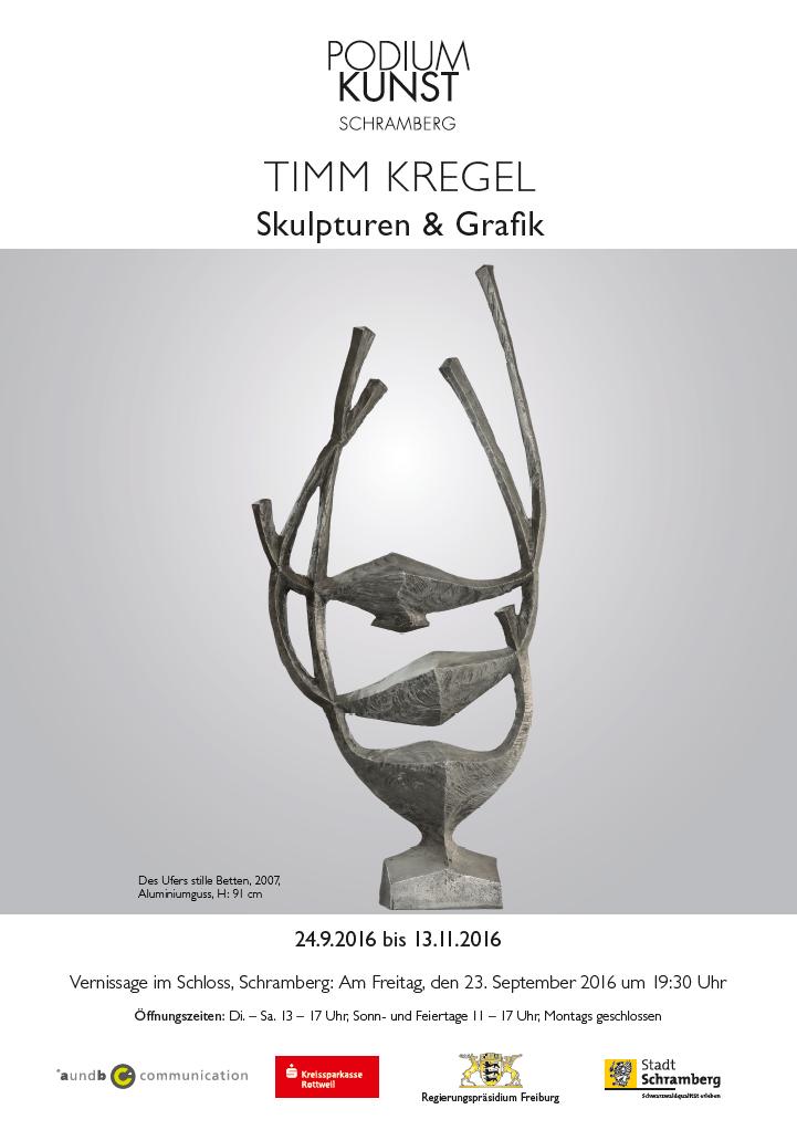 Plakat Ausstellung Timm Kregel