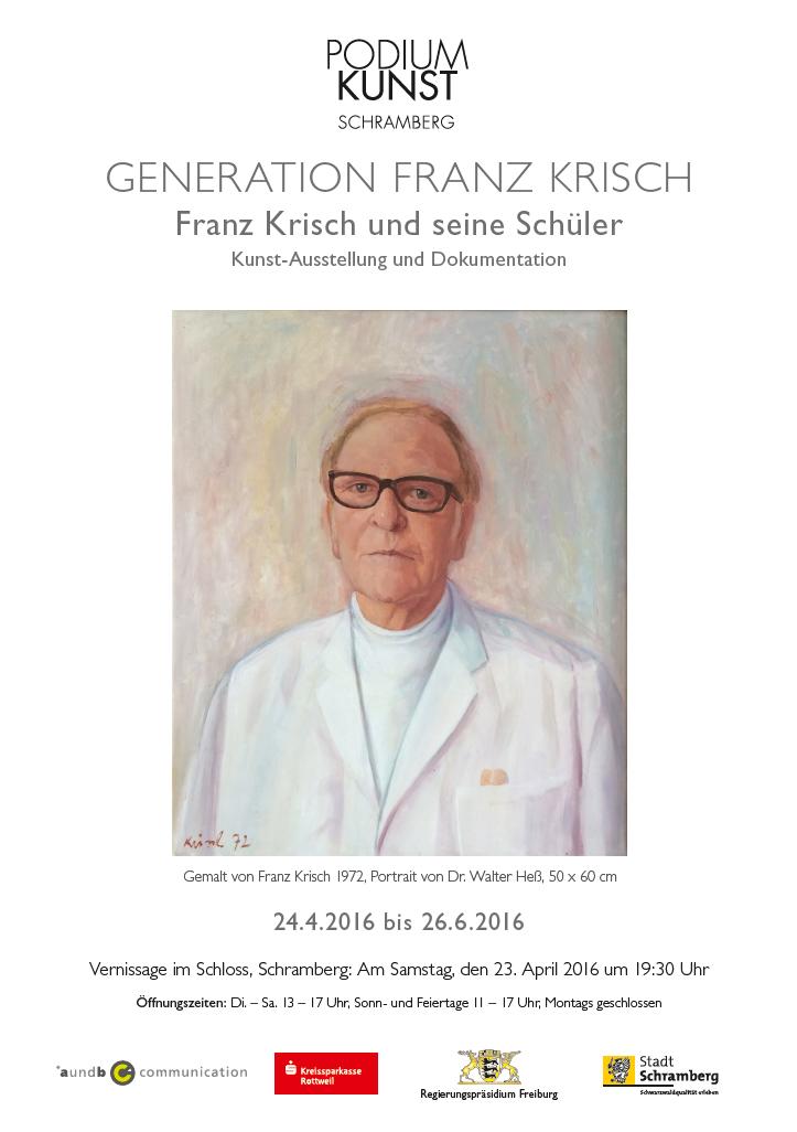 Plakat Ausstellung Generation Franz Krisch