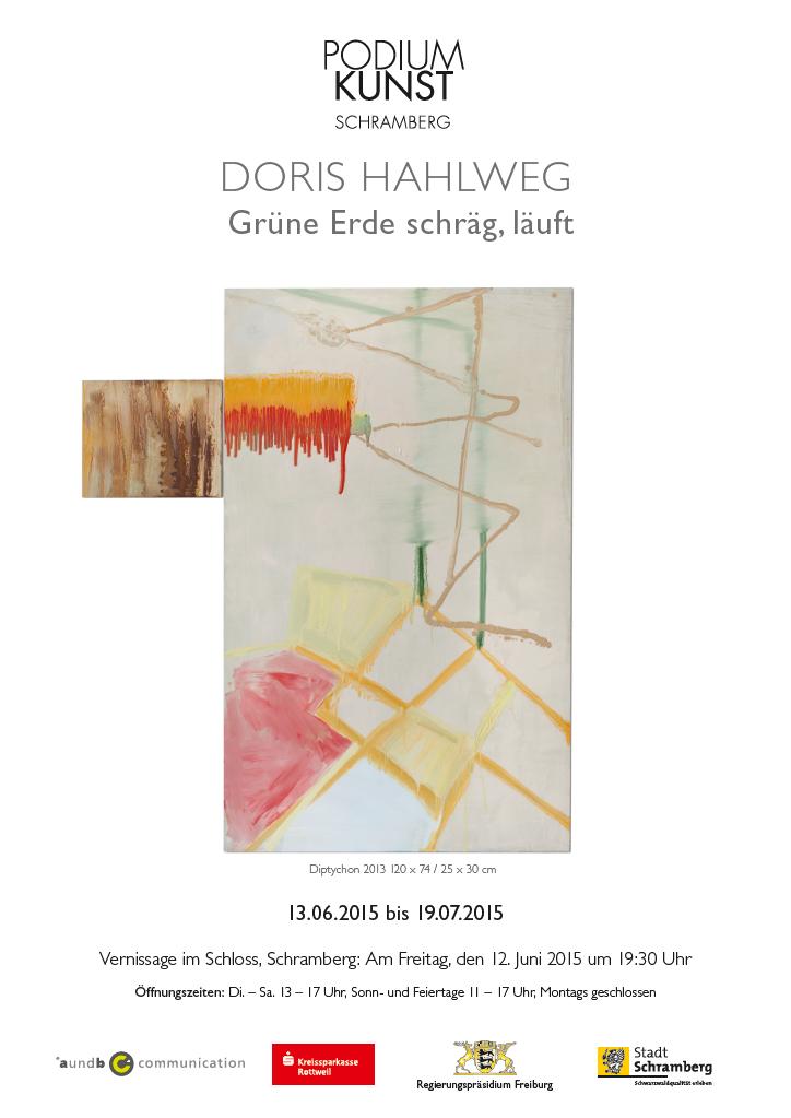 Plakat Ausstellung Doris Hahlweg