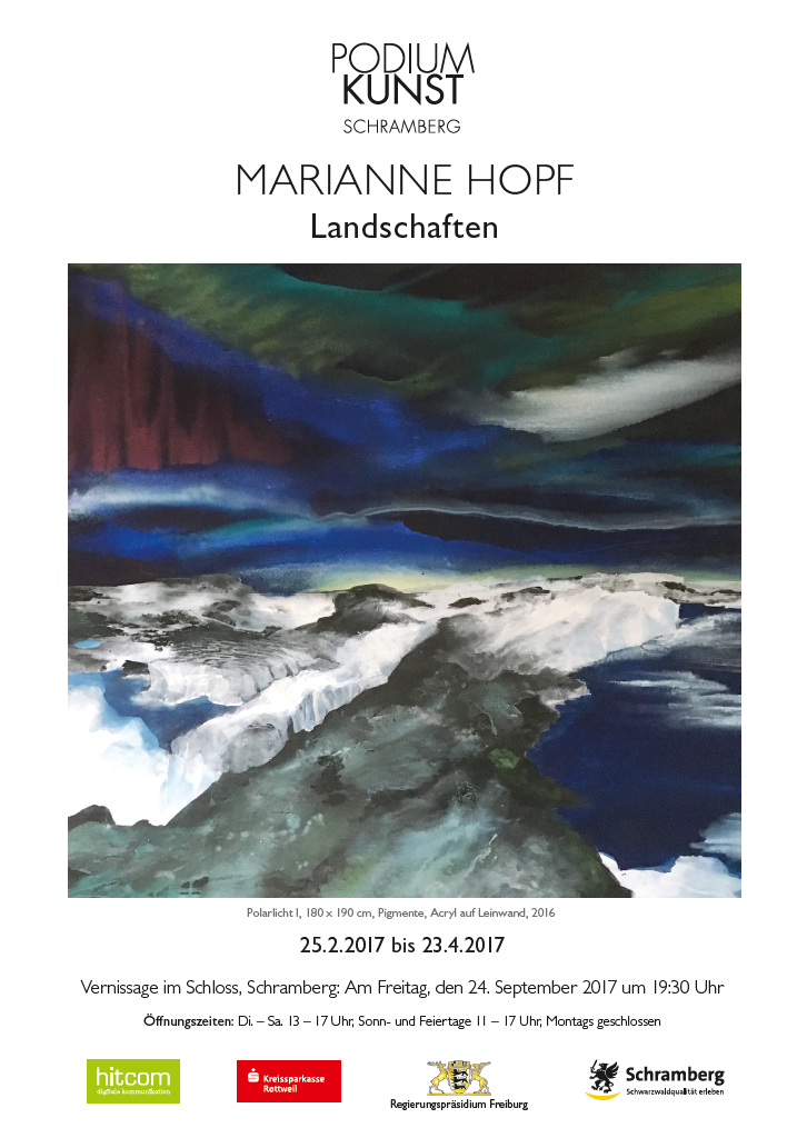Plakat Ausstellung Marianne Hopf