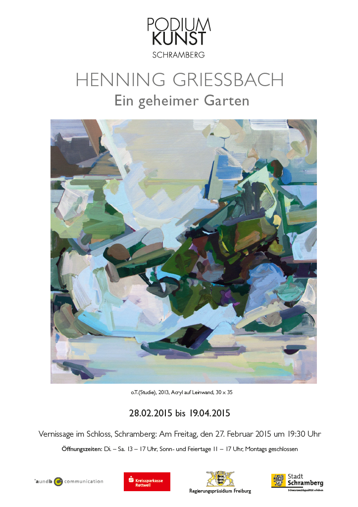 Plakat Ausstellung Henning Griessbach