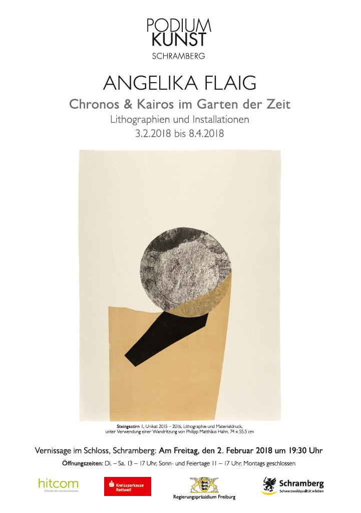 Plakat Ausstellun Angelika Flaig