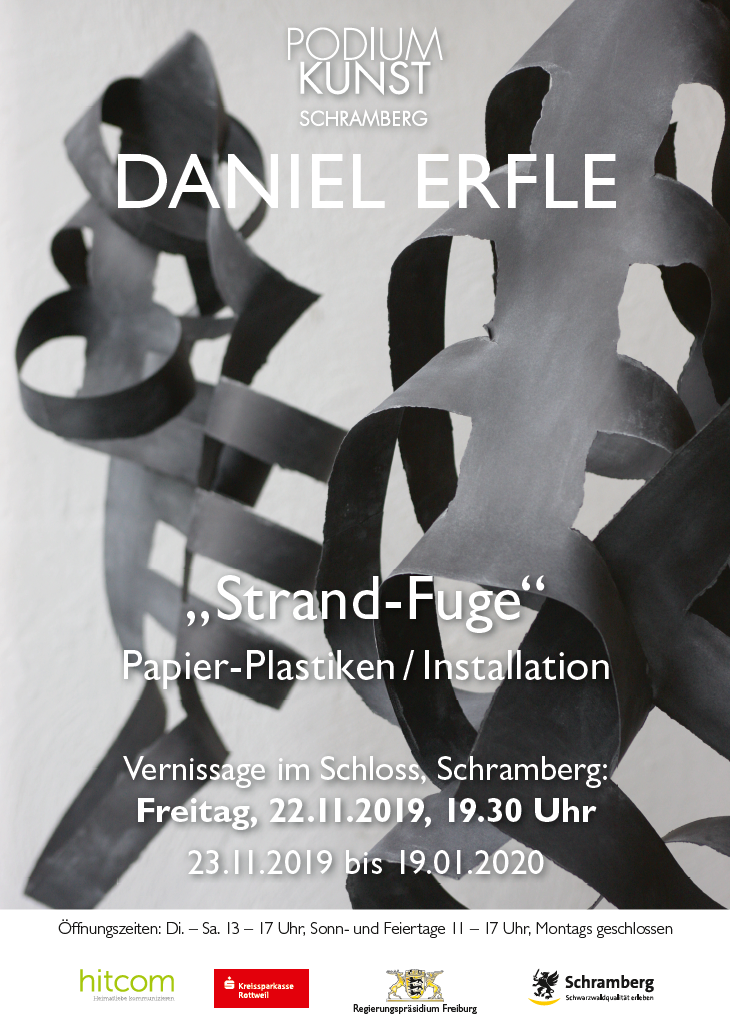 Plakat Ausstellung Daniel Erfle