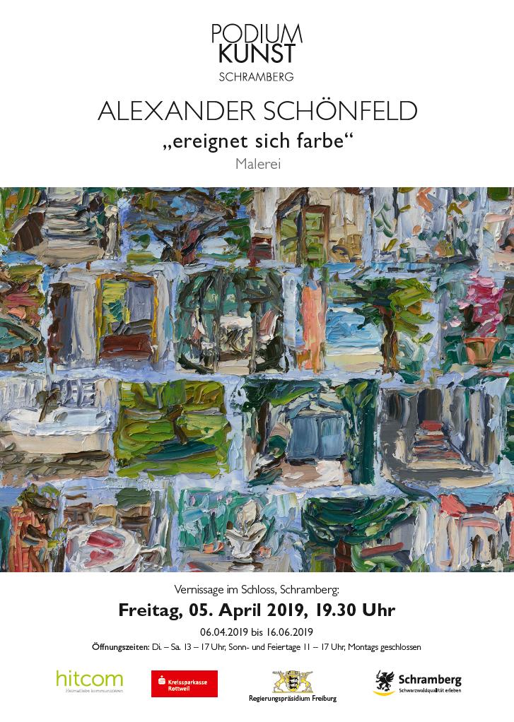 Plakat Ausstellung Alexander Schönfeld