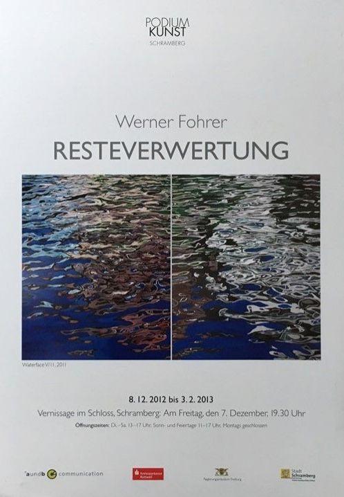 PLakat zur Ausstellung Werner Fohrer 2012