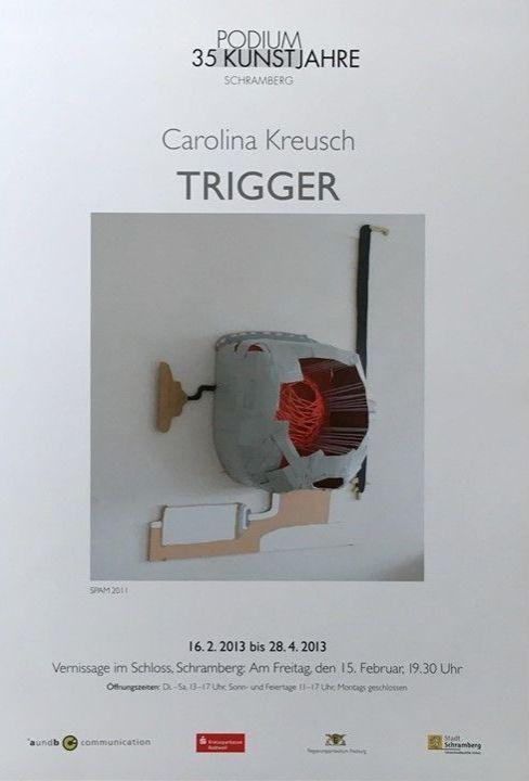 Plakat Ausstellung Carolina Kreusch, 2013
