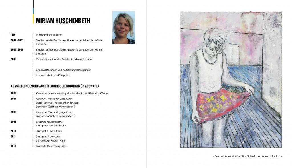 Miriam Huschenbeth, Kunstraum Schramberg, Vita