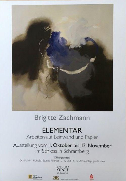 Plakat Brigitte Zachmann